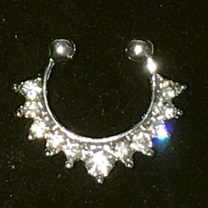 NOSE RING Jewelry - BRAND NEW Crystal Septum Nose Ring